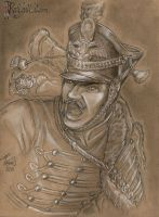 Sketch Napoleonic Russian lifeguard Hussar by redcoatcat