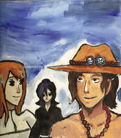 Bleach and One Piece by goldenthyme