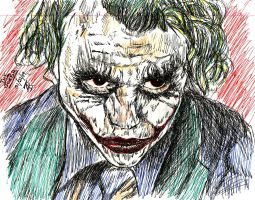 The Joker Sketch by shurtugalgeek