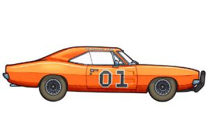 1969 Dodge Charger by 451illustration