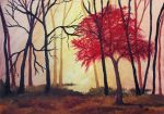 Red Tree (oil painting) by AlexandraDart