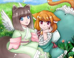 Two Kitties by Frills-Of-Justice