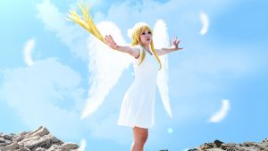 Yuu Cosplay edit (Angel Wallpaper) by Hardii