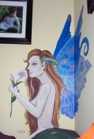 Lily Fairy Wall Painting by melissasigalovskaya
