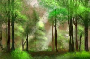 Forest BG by Yuka-Strike