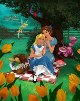 Alice and Wendy Spending Some Picnic Quality Time by mandygirl78