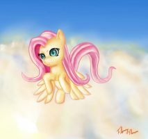 Fluttershy flying by Miokomata