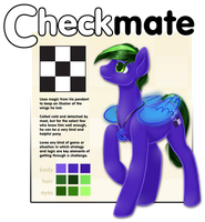 Commission - Checkmate Ref Sheet by StyxLady