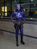 Purple Latex-ed up Femme (Fetish Ball 2013) by lyctiger