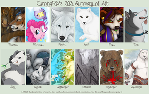 CunningFox's 2013 Summary of art by CunningFox