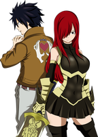 Erza And Gray by JasmineBlack