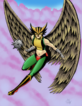 Hawkgirl  by monkeygeek