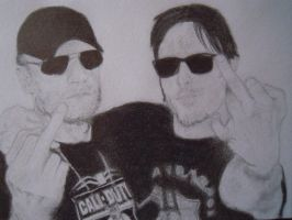 Daryl and Merle of The Walking Dead by Laura31470