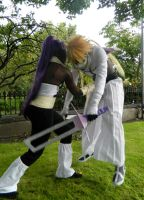 Bleach: Yoruichi v Halibel by toxicallurecosplay