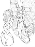 Two Mermaids by BakurasPlayMate
