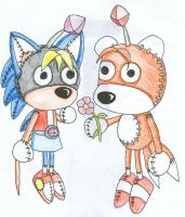 Tails Doll x Maya Doll by Kimmy-the-Echidna