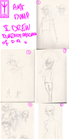 Art Dump that I drew during Absence of dA (Part 1) by SonicWolvelina99