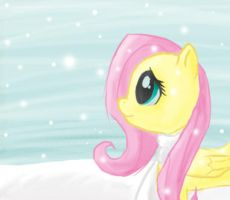 MLP:FIM Fluttershy in the Snow by JoyWillCome