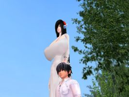 Towering High by ElusiveGiantess
