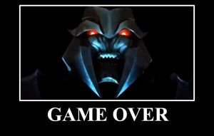 GAME OVER MEGATRON DEMOTIVATIONAL by Ominous-Artist