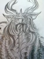 Neltharion rendered in graphite by Ghostwalker2061