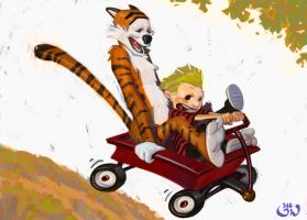Calvin and Hobbs by FUNKYMONKEY1945