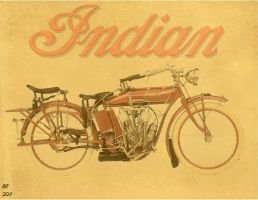 vintage looking indian poster by desithen