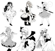 Touhou Requests by yulipo