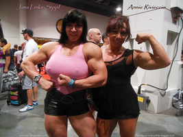 Muscle Angels Jana Linke-Sippl And Annie Rivieccio by zenx007