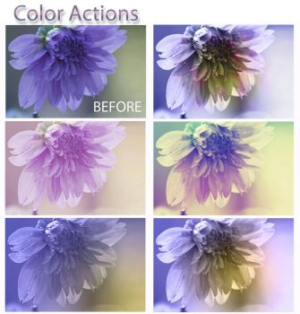 Free Photoshop Color Actions by ibjennyjenny