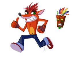 Crash Bandicoot by EnyaAdiemus