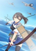 Battleship Kaga Ready for Action-Kantai Collection by AmberClover