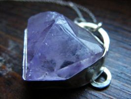 Rough Amethyst Hidden Pentacle by MoonLitCreations