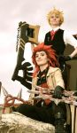 Steampunk Akuroku by wingedlight