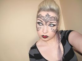 Leather and Lace Inspired Makeup by nikkipandahat