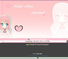 Journal skin by Alice by Alice-Keys