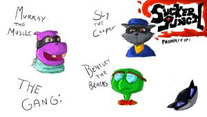 Sly Cooper and the Gang by Apples-Malus