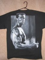 Arnold T-shirt by whiskeyxray