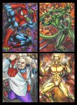 Spidey Villains sketch card commissions group 1 by AHochrein2010