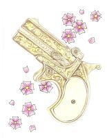 Antique Derringer Pistol by TattooSavage