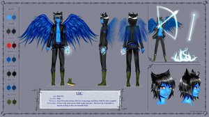 Character Reference Sheet: Luc by LucPlays