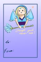 Valentine's Day Crystal Maiden Card by Hawoot