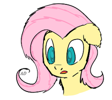 Sketch N3 FlutterShy [MY LITTLE PONY] by AD-Laimi