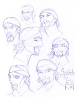 Sinbad - Face Studies by MichaelCrichlow