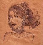 Face drawing in kraft paper by fdrawer