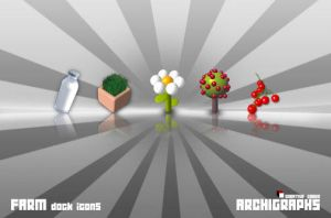 Archigraphs Farm Dock Icons by Cyberella74