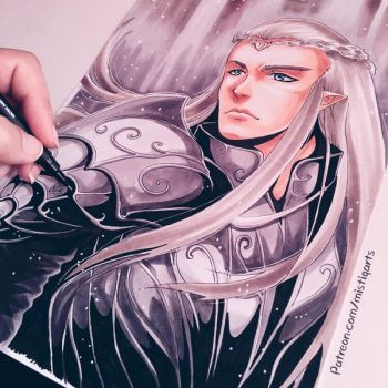 Thranduil , King of Mirkwood by Mistiqarts