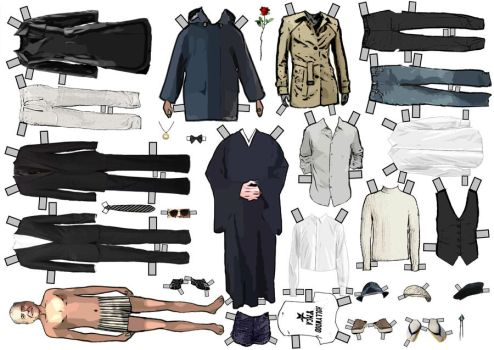 Leonard Cohen Dress-up Paperdoll by Evahasfun