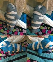 Manatee and Seal Sock Creatures by ShellMinded