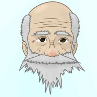 Old man face by durahanpius